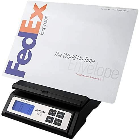 Accuteck Heavy Duty Postal Shipping Scale with Extra Large Display, Batteries and AC Adapter (A-ST85C),Black (Single ...