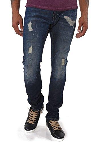 Kaporal Jeans Homme Clint Dirty Destroy Bleu, W29/L34