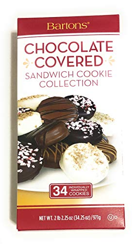 34.25oz Bartons Chocolate Covered Sandwich Cookies Collection, Pack of 1