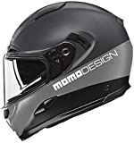 Momo Design - Casco de moto integral Hornet gris Asphalt, talla M
