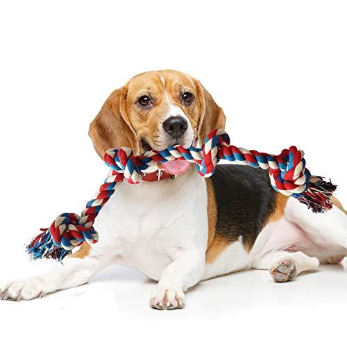 GHEART Hundeseil Spielzeug, Hundespielzeug Seil Hund Tau Spieltau mit Knoten für Hunde, Kauspielzeug Hund Unzerstörbar, Interaktives Hunde Spielseil Intelligenzspielzeug für Zahnreinigung