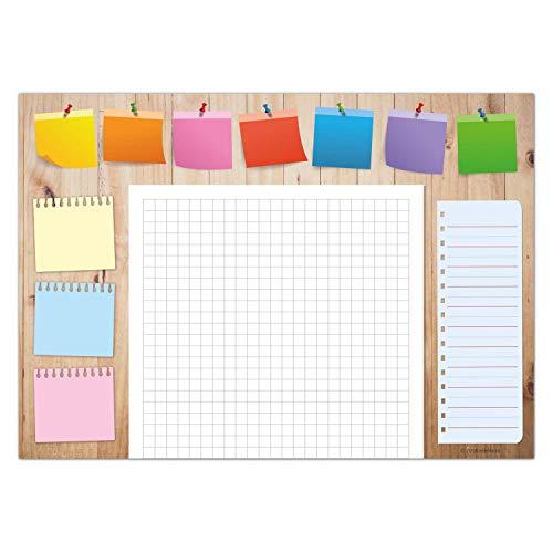 edelkern Schreibtischunterlage aus Papier für Kinder & Erwachsene | Ideal als Notizblock, Organizer, Wochenplaner & Tagesplaner | Perfekt für Deine tägliche To Do Liste | DIN A3 Schreibunterlage
