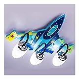 YAYADU-Storage Basket Aereo Plafoniera, Lampadario Camera Letto Ragazzi Ragazze Design Creativo Aeromobili con 3 Pezzi Portalampada E14, Paralume Plafoniera per Cameretta Bambini