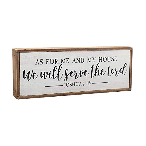 Paris Loft As for Me and My House We Will Serve The Lord Wood Rustic Wall Sign Plaque|Farmhouse Home Decor|Christian Decor|Bible Verse Sign