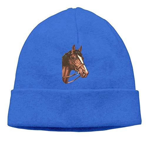 Unisex Beanies Caps Horse Haed Skull Hats Soft Hedging Cap