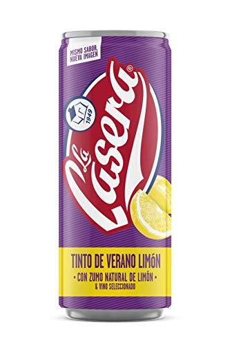 Tinto de verano la casera limón, lata sleeck 33 cl