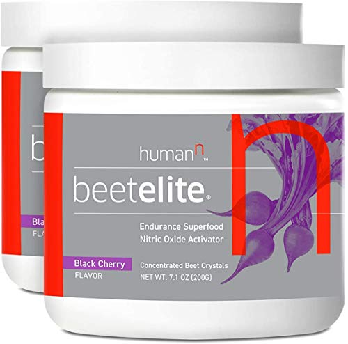 BeetElitePlant-Based Pre-Workout - Caffeine Free,Creatine-Free,Vegan-Friendly-for Men and Women(Black Cherry, 7.1-Ounce, 2-Pack)