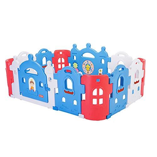 NBgy Bebé Parque Infantil, Cerca de bebé portátil, Cerca de Seguridad con una Cerradura, Doble Hebilla y Antideslizante Base, for los niños de 0-10 Años de Edad, de 2 Colores, 200x150cm