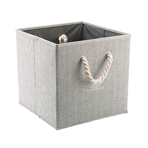 Planken Opvouwbaar Storage Box Organizer met Cotton kabelhandvatten Toys Basket Holder wasmand Diversen Household Supplies (grijs) Flower Pot Rack XIUYU