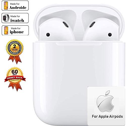 Bluetooth-Kopfhörer, Kabellose Kopfhörerr IPX7 wasserdichte, Noise-Cancelling-Kopfhörer, HiFi-Kopfhörer, Hörisolierung, mit 24H Ladekästchen und Mikrofon für Android/iPhone/Samsung/Airpod