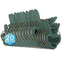 """Ram-Pro easy One-hand operation, Reusable, Weatherproof & Non-rusting, Spring Steel Wire Set of 20 Clip Ring's – 10pc small 1"""" and 10pc large 1-3/4"""". The Ram-Pro clips are designed to Support and Protect Plant's, Flower's and seedling's to help secur..."""