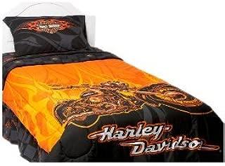Harley Davidson Flames Comforter Twin Size