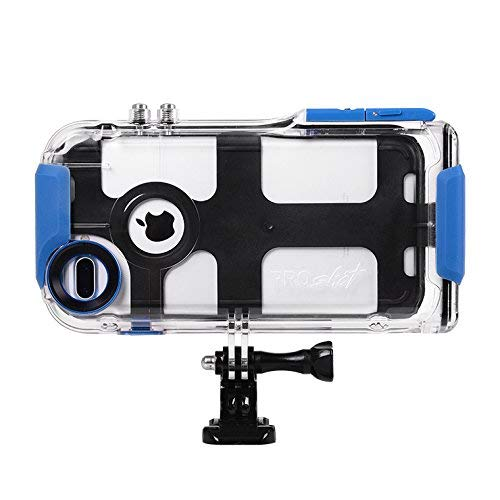 ProShot Touch - Waterproof Case Compatible with iPhone 8 Plus, 7 Plus, and 6 Plus, Compatible with All GoPro Mounts Perfect Diving Case for Snorkeling (12-Month Protection Plan for Your iPhone)