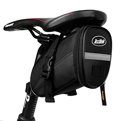 LC-dolida Fahrrad Satteltasche, wasserdichte Rahmentasche Aufbewahrungstasche Fahrradtasche Oberrohrtasche für Mountainbikes, Fahrräder, und Rennräder - Schwarz