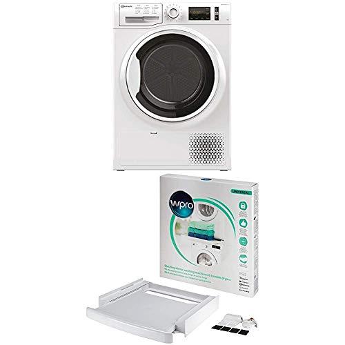 Bauknecht T Pure M11 72WK DE Wärmepumpentrockner / A++ / 7 kg / ActiveCare-Technologie + wpro SKS101 - Waschmaschinenzubehör/ Trocknerzubehör/ Verbindungsrahmen m. Ablage