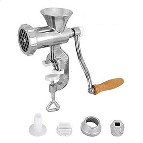 Lorenlli Fleischwolf Aluminium Manueller Fleischwolf Handbetrieb Haushaltsküchenzubehör Kochwerkzeug