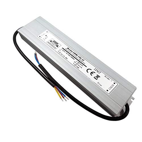 VARICART IP67 12V 12.5A 150W Wasserdichter LED Treiber, Ultra Schmal Universal Reguliertes AC DC Schaltnetzteil, Konstanter Spannungswandler Adapter für CCTV Kamera MR16 GU5.3 Glühbirne(1-er Packung)