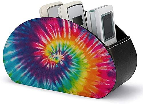 Organizador de soporte de control remoto Remolino abstracto Tie Dye Caja de almacenamiento para el hogar de cuero PU multifuncional para almacenar TV DVD Blu-Ray