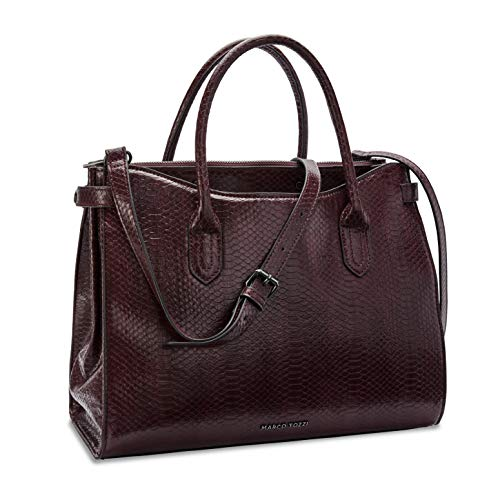 MARCO TOZZI Damen Handtasche 2-2-61035-25, Bordeaux Snake, 1 EU