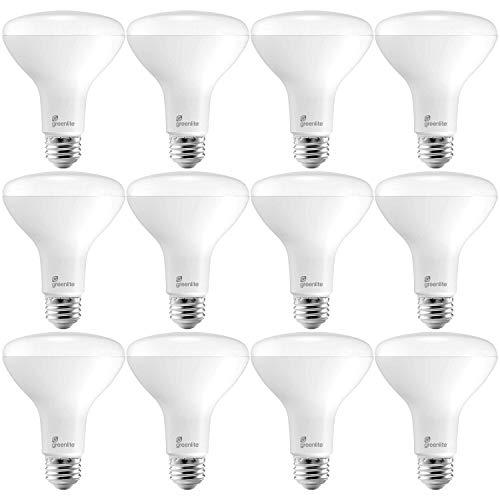 Greenlite 12 Pack BR30 LED Flood Light Bulbs, 11W=65W, 850 Lumens, Dimmable, 3000K Bright White, Energy Star, E26 Medium Base