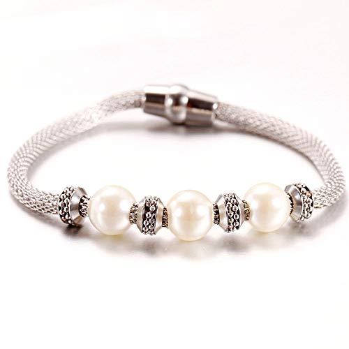 Pulseras Brazalete Joyería Mujer Pulsera De Perlas Blancas De Moda Pulsera De Joyería De Mujer Pulsera Popular Clásica De Moda