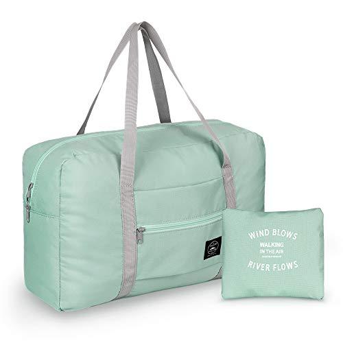 Leichter Faltbare Reisetasche, Simboom wasserdichte Reise Handtasche Faltbare Reise-Gepäck Tasche Duffel Taschen für Reisen Sport Gym Shopping Gepäck, Minzgrün