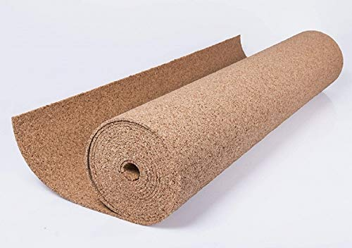 Korkplatte Meterware Größe 1 x 10 Meter Korkrolle Rolle 2mm 3mm 4mm 6mm 8mm 10mm (6mm)