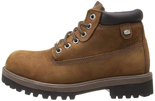 Skechers Men's Sergeants-Verdict Waterproof Boot,Dark Brown,10.5 M US