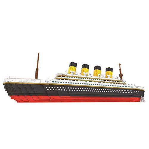 HYZM Titanic Modell Baustein, 3000+ Teiles Große Titanic Schiff Modellbausatz Micro Diamond Bausatz, Geschenk für Erwachsene und Kinder