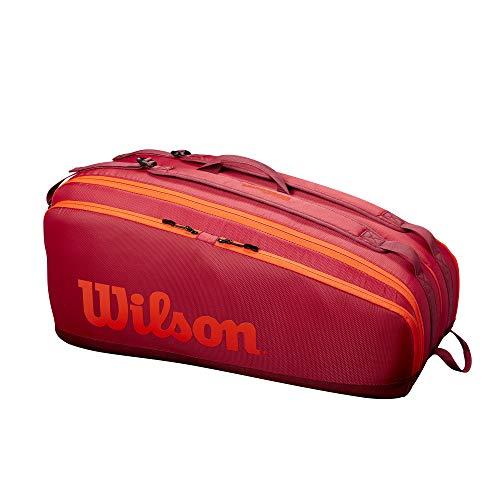 Wilson Tour 12 Bolsa de tenis, Hasta 12 raquetas, Granate, WR8011202001