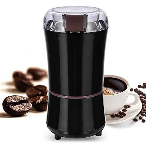 Przenośny Elektryczny Coffee Grinder Fasola Nuts Mechan Melining Czarny ekspres do kawy