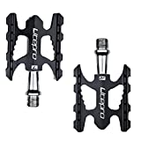 Carolilly Pedals Aluminium Anti Slip Pedal for Road Bike Mountain Bike (Black, One Size)