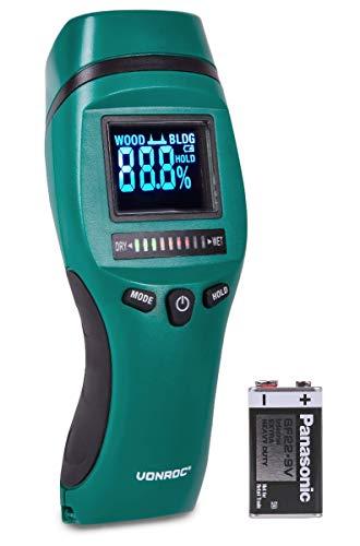 Medidor de humedad - Pantalla LCD con retroiluminación - Uso profesional y preciso - Medición de humedad y moho