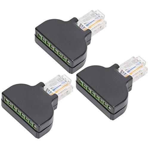 Mxzzand Adaptador de Conector de diseño Compacto Digital de Larga duración Conector de Enchufe Transmisión de señal Estable Gran Rendimiento para AV