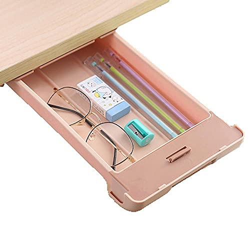 Cajon Oculto Debajo Del Escritorio Rosa Cajon Debajo Escritorio - 29x15x3.5cm - Cajón Escritorio para Escritorio, Mesa, Armario, Armario