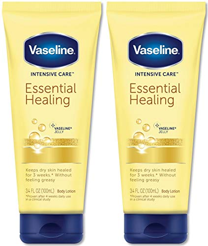 Vaseline Intensive Care Essential Healing Lotion, 3.4 Ounce (Pack of 2)