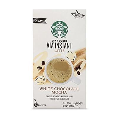 Starbucks VIA Instant White Chocolate Mocha Latte, 5 Count (Pack of 1)