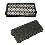 HQRP 2-Pack Active HEPA Filter compatible with Miele Callisto, Capricorn, Earth, Alize Canister Vacuum Cleaners plus HQRP Coaster