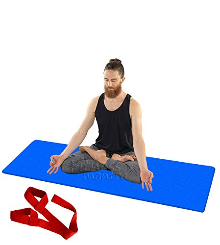 Fitness Mantra® Yoga Mat for Gym Workout and Yoga Exercise with 6MM Thickness, Anti-Slip Yoga Mat for Men & Women Fitness...