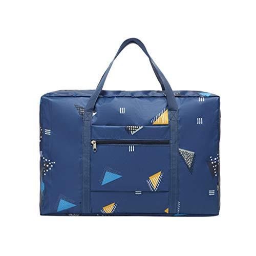 DOITOOL Faltbare Reisetasche Wasserfeste Gepäcktasche Sport-Sporttasche Tragbare Kleidertasche Wochenendtasche für Gepäcksport Yoga (Dunkelblau)