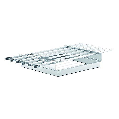 THÜROS Schaschlikspießaufsatz inkl. 6 Spieße für THÜROS T1 und Tischgrill Grillfläche 30x30 cm