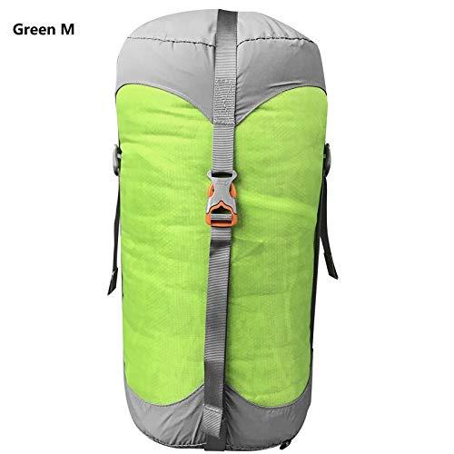 Générique Sac de Compression en Nylon pour Sacs de Couchage de Compression 4 Couleurs 4 Tailles (Couleur : Vert M)