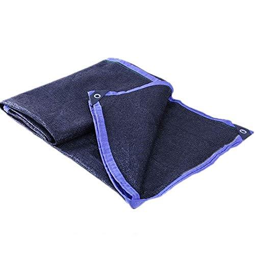 shede net LDFZ 60% -70% zonwering doek - blauwe rand met knoopsgat - broeikas/terras/tuin/carport/achtertuin 5 m * 5 m * 6 m / 5 m * 7 m / 5 m * 8 m