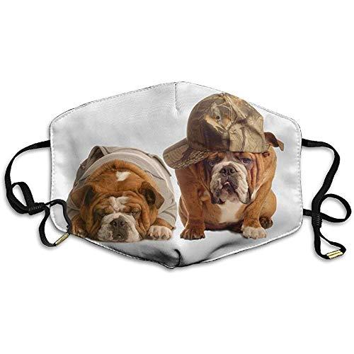 Unisex Mund Masken Hip Hop Hunde Bulldog Mit Kappe Anti Staub Anti Verschmutzung Polyester Motorrad Gesichtsmaske Wiederverwendbar