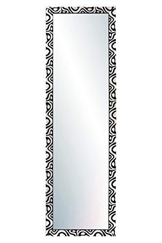 Chely Intermarket, Espejo de Pared Cuerpo Entero 35x140cm(44x149cm)/Negro-plata/Mod-144, Ideal para peluquerías, salón, Comedor, Dormitorio y oficinas. Fabricado en España. Material Madera.