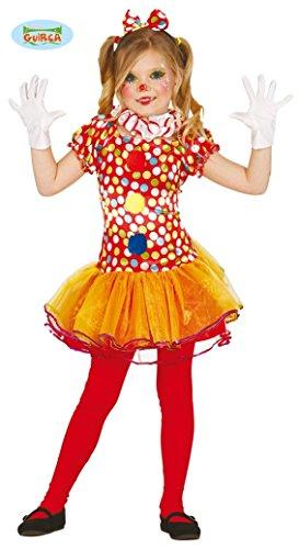 Generique - Disfraz de Payaso Multicolor con tutú niña - 5-6 años (110/116)