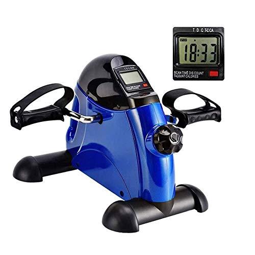 UIZSDIUZ Mini Bicicleta estática portátil Inicio Pedal ejercitador Bicicleta de Gimnasio de Fitness Pierna Brazo de Entrenamiento Cardiovascular Ajustable Resistencia con Pantalla LCD