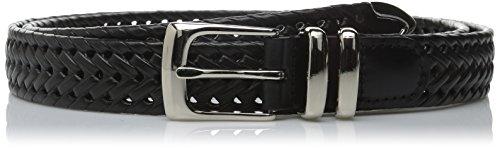Perry Ellis Men's Big-Tall Portfolio Braided Belt, Black, 48 Black Leather Woven Belt