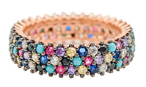LIMUZHI Anillos de plata de ley 925 para mujer, coloridos anillos de turquesa para parejas, joyas de compromiso, regalos de talla 9-20 18#