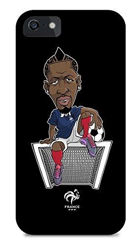 FFF beschermhoes voor iPhone 5/5S, motief Mamadou Sakho, officiële collectie van het Franse voetbalteam